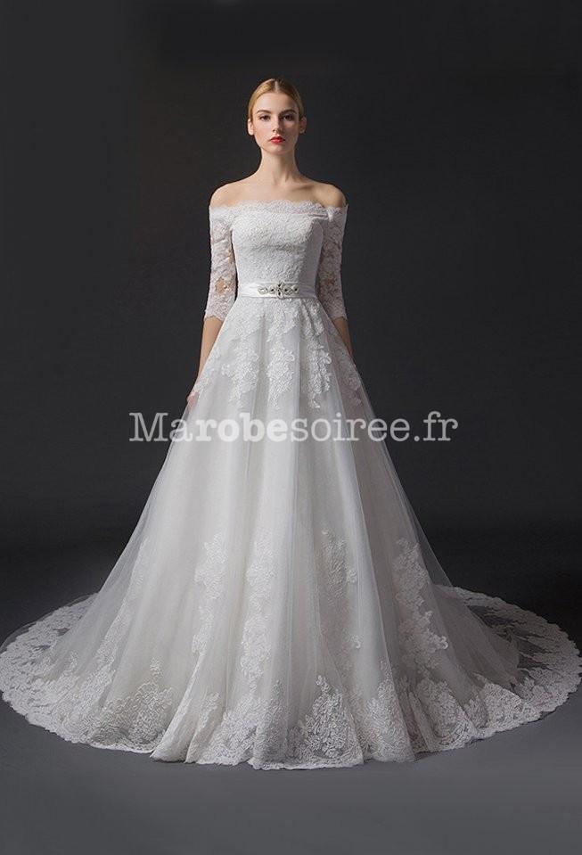 Robe de mariée princesse glamour