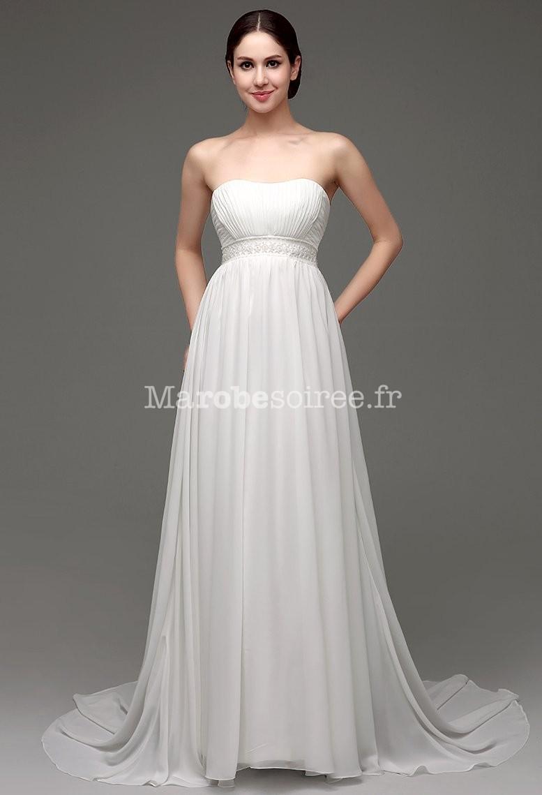 Accueil / Robe de mariée fluide avec des perles réf SQ249 - sur ...