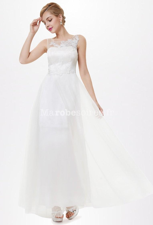 1187a1856d ... Robe de mariée simple et élégante avec broderies réf EP8447. élégance  ...