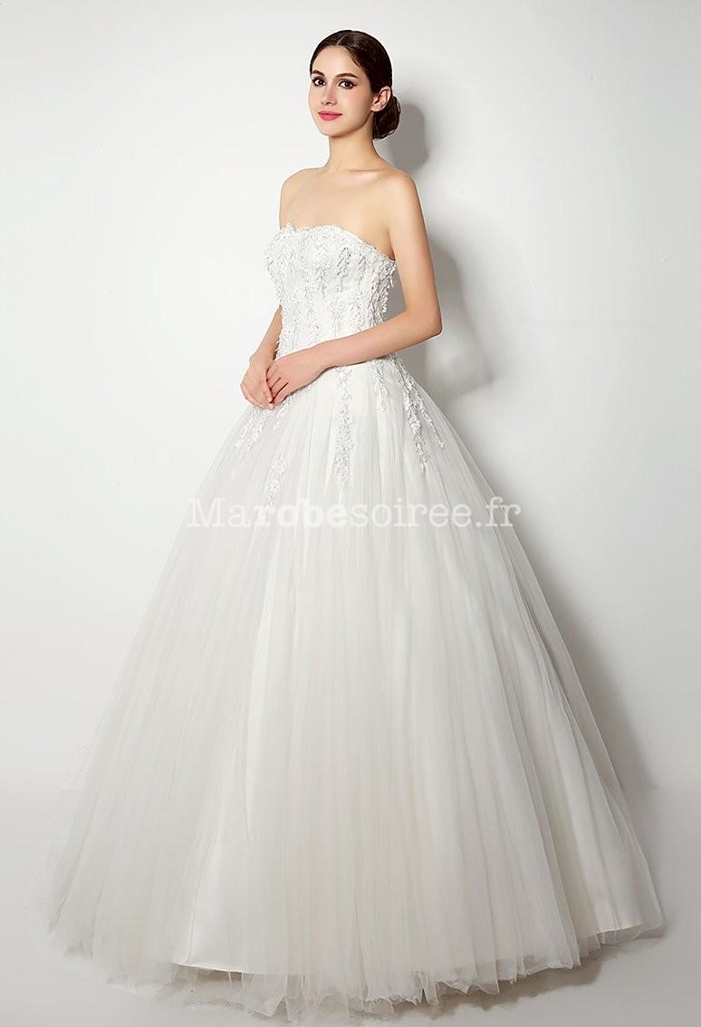 robe de mari e princesse motif floral tulle
