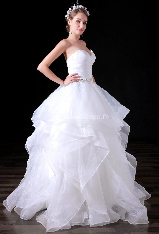 robe de mari e meringue bustier coeur