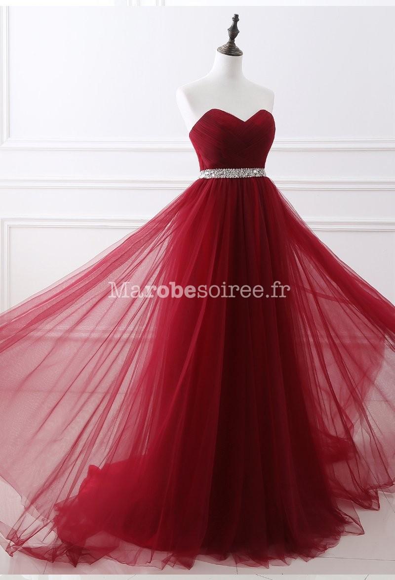 robe de soir e rouge longue. Black Bedroom Furniture Sets. Home Design Ideas