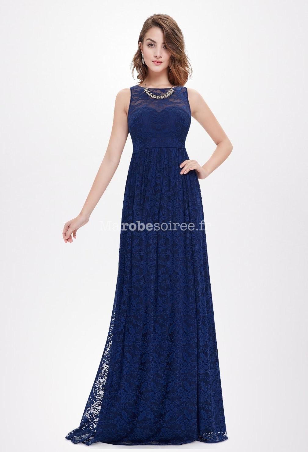 somptueuse robe de c r monie bleu nuit. Black Bedroom Furniture Sets. Home Design Ideas