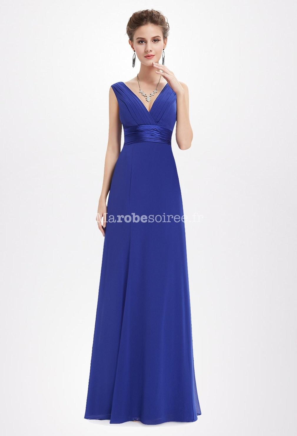 robe de soir e bleu roi taille marqu e. Black Bedroom Furniture Sets. Home Design Ideas
