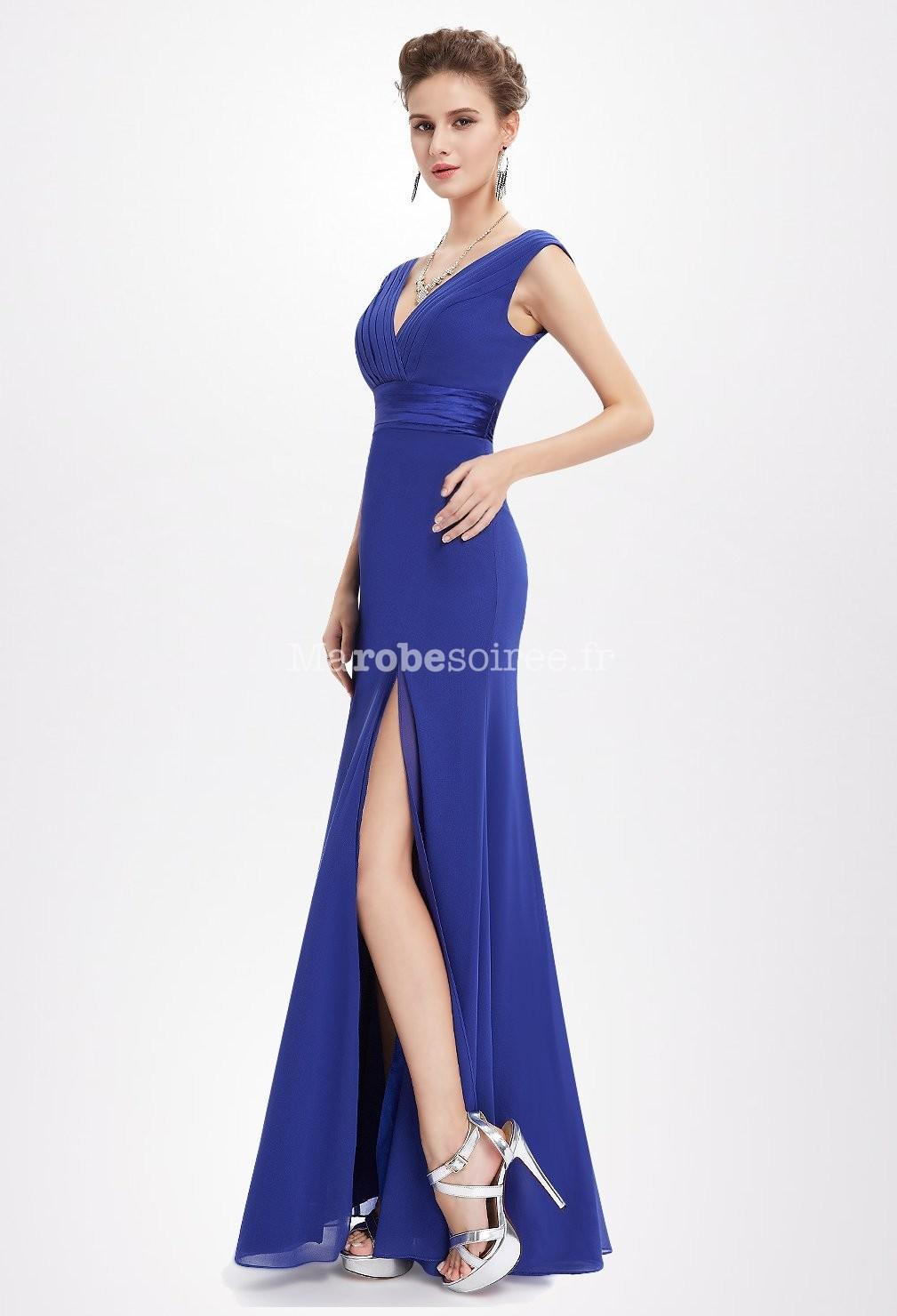 Robe de soiree bleue roi
