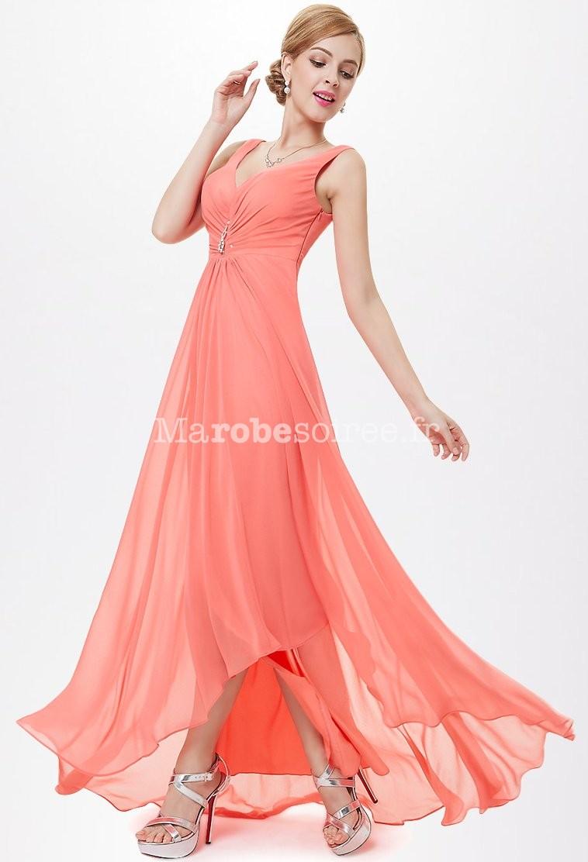 Achat robe soiree corail