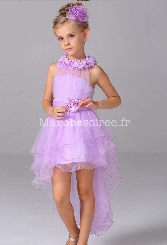 051fe500bbda7 Robe de soirée pour fille asymétrique réf EFL54 en Coton
