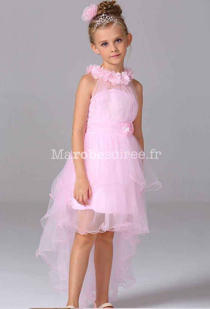 Robe de soir e enfant asym trique for Robes roses pour les mariages