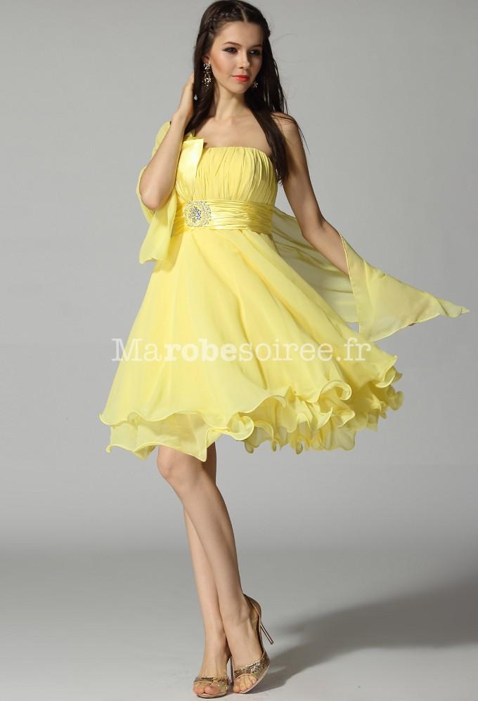 7302217753b ... robe de soirée courte avec bretelle asymétrique sur mesure ...