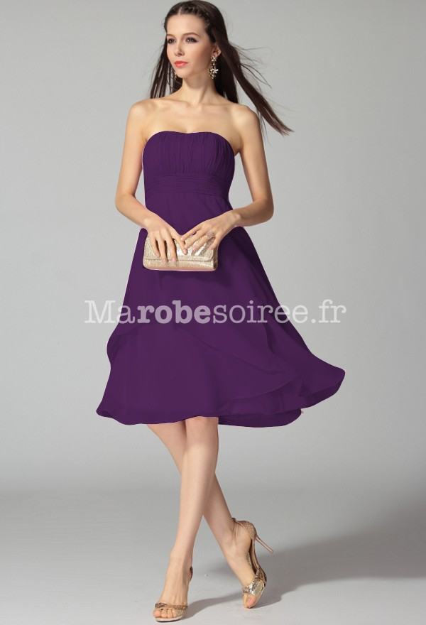 Robe bustier cocktail pour mariage