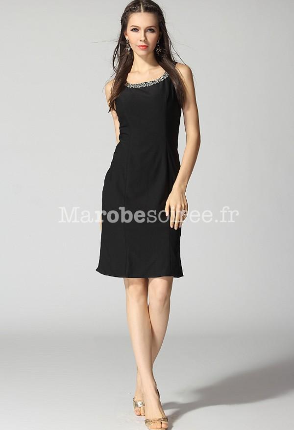 cb7cc6d162 robe de soirée courte noir décolletée dans le dos nu strass simple