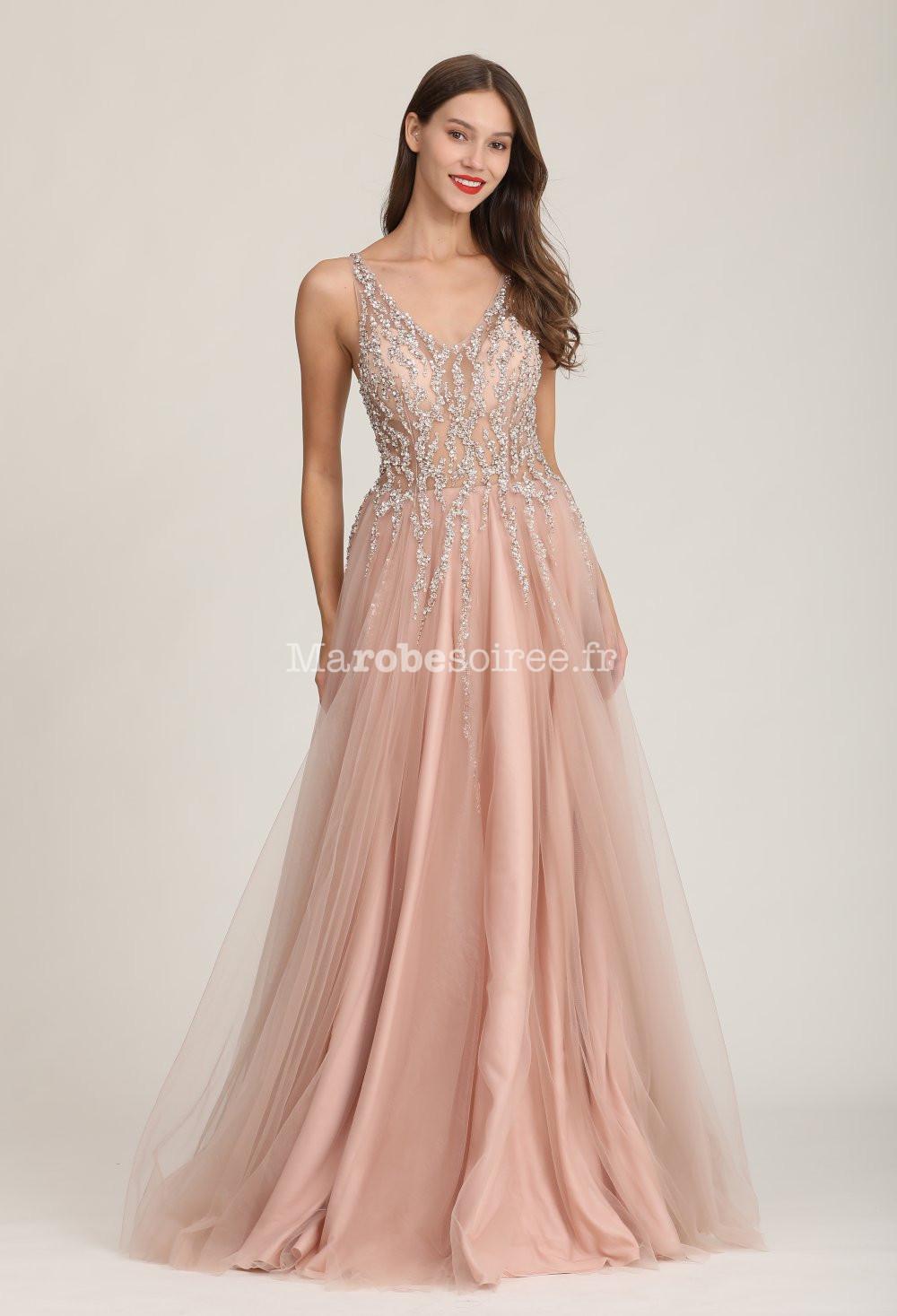 Robe de soirée rose princesse