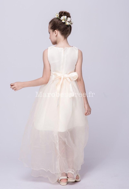 dd672f3f9cc38 ... Robe de cérémonie fille asymétrique bustier scintillant ...