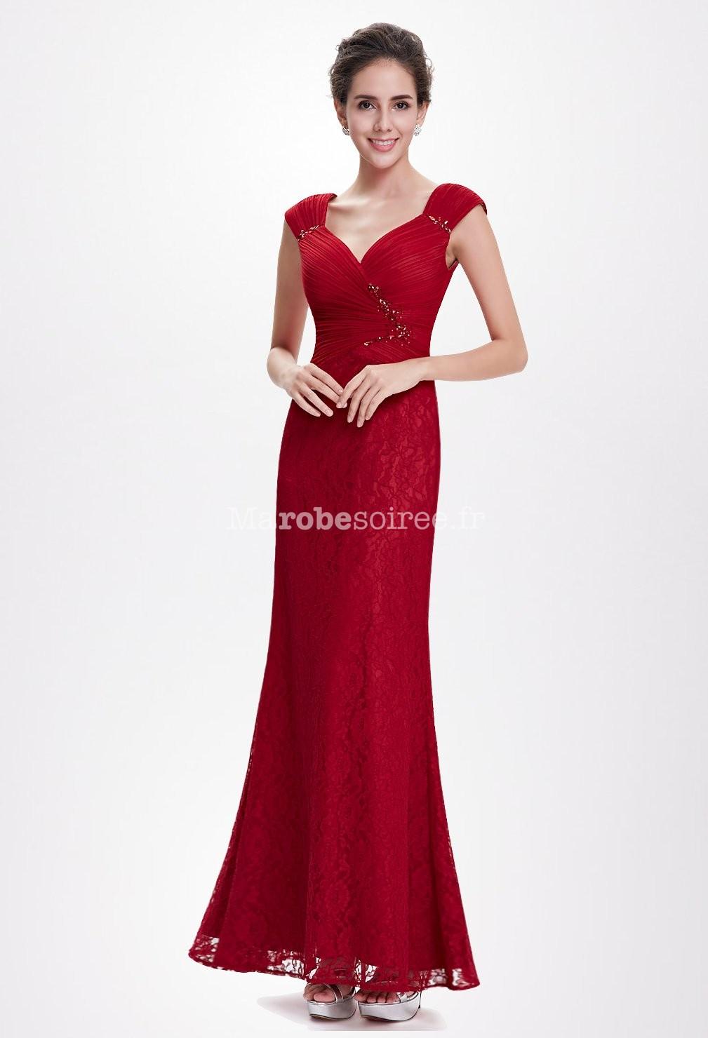 Modele robe de soiree rouge