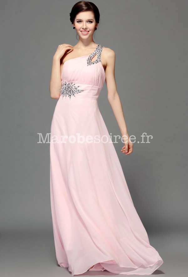 Robe de soiree princesse rose