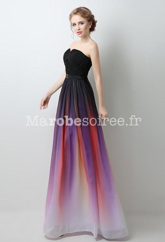 3e515d5b518 Robe de bal longueur noir + couleur dégradé
