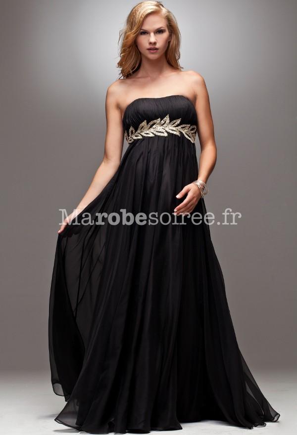 Robe soiree noire et doree