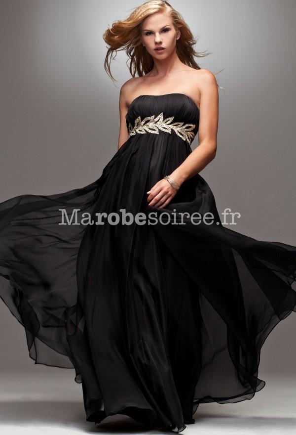 pour choisir une robe robe soiree noir et dore