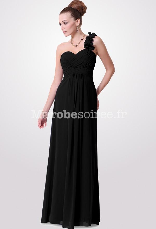 robe de c r monie fluide bretelle fleurie en mousseline. Black Bedroom Furniture Sets. Home Design Ideas