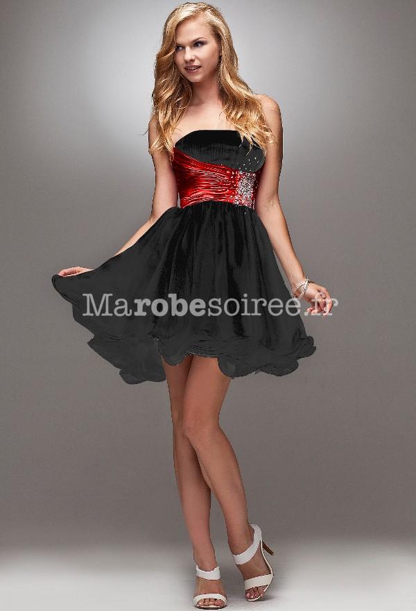 robe de cocktail noir froufrou