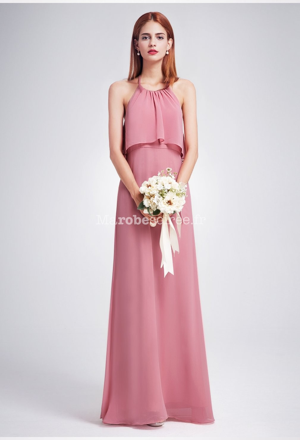 Robe de soiree couleur vieux rose