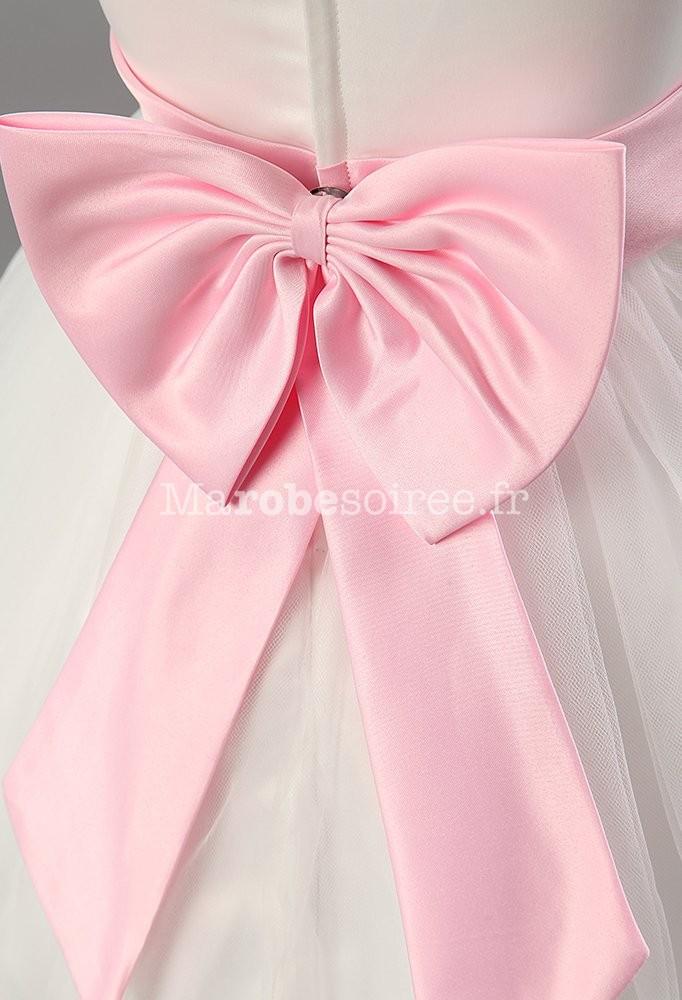 robe cort ge enfant blanche en satin et tulle robes lily. Black Bedroom Furniture Sets. Home Design Ideas