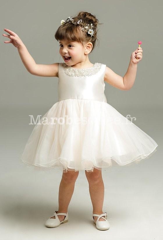 358b1e05772b0 Robe bébé pour mariage en rose nude ...