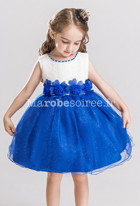 Robe bleu roi pour petite fille