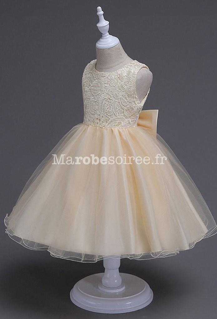 d6afea016a584 Robe de mariage pour fille dos ouvert réf  EF996 en Coton