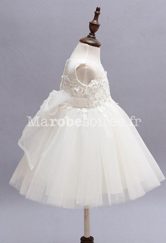 f9aed830448ac Rouge · Blanc · Robe baptême digne de princesse EF9030 - côté ...