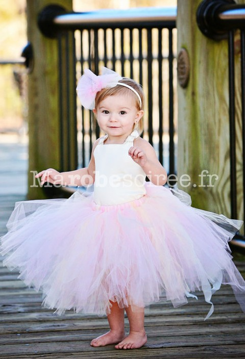69c70bf309b Robe de cortège enfant doc dégagé rose