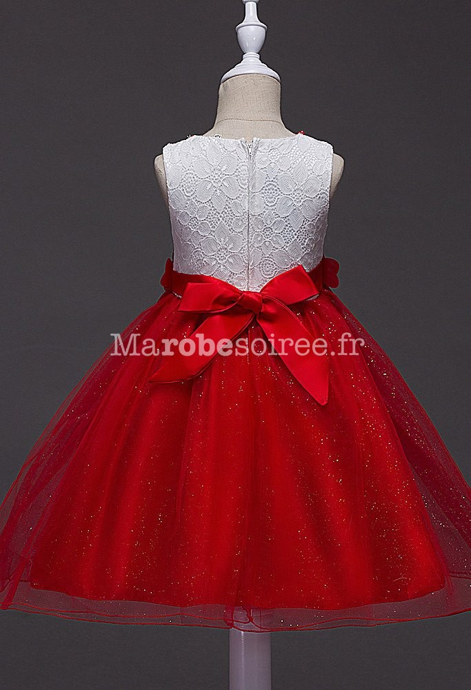 Robe mariee jupon rouge