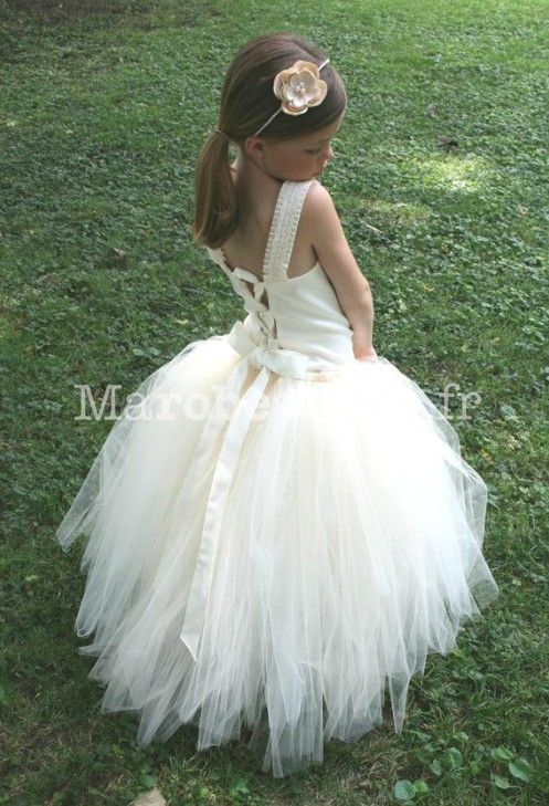robes l gantes robe fille tulle blanc