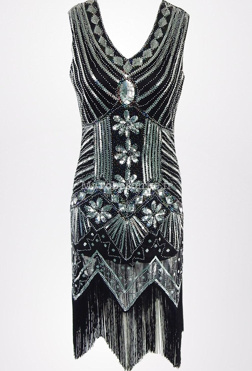 Robe Noire Charleston Vintage Gatsby