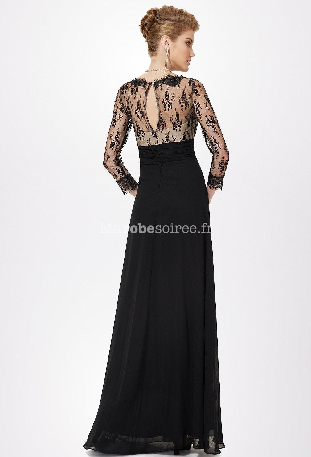 robe de soiree longue avec manche dentelle. Black Bedroom Furniture Sets. Home Design Ideas