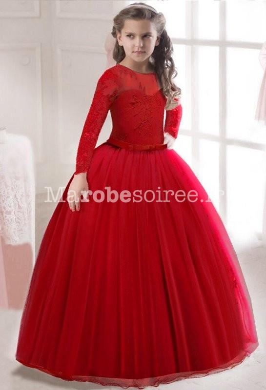 8e112458008 Robe cortège princesse dentelle manches longues