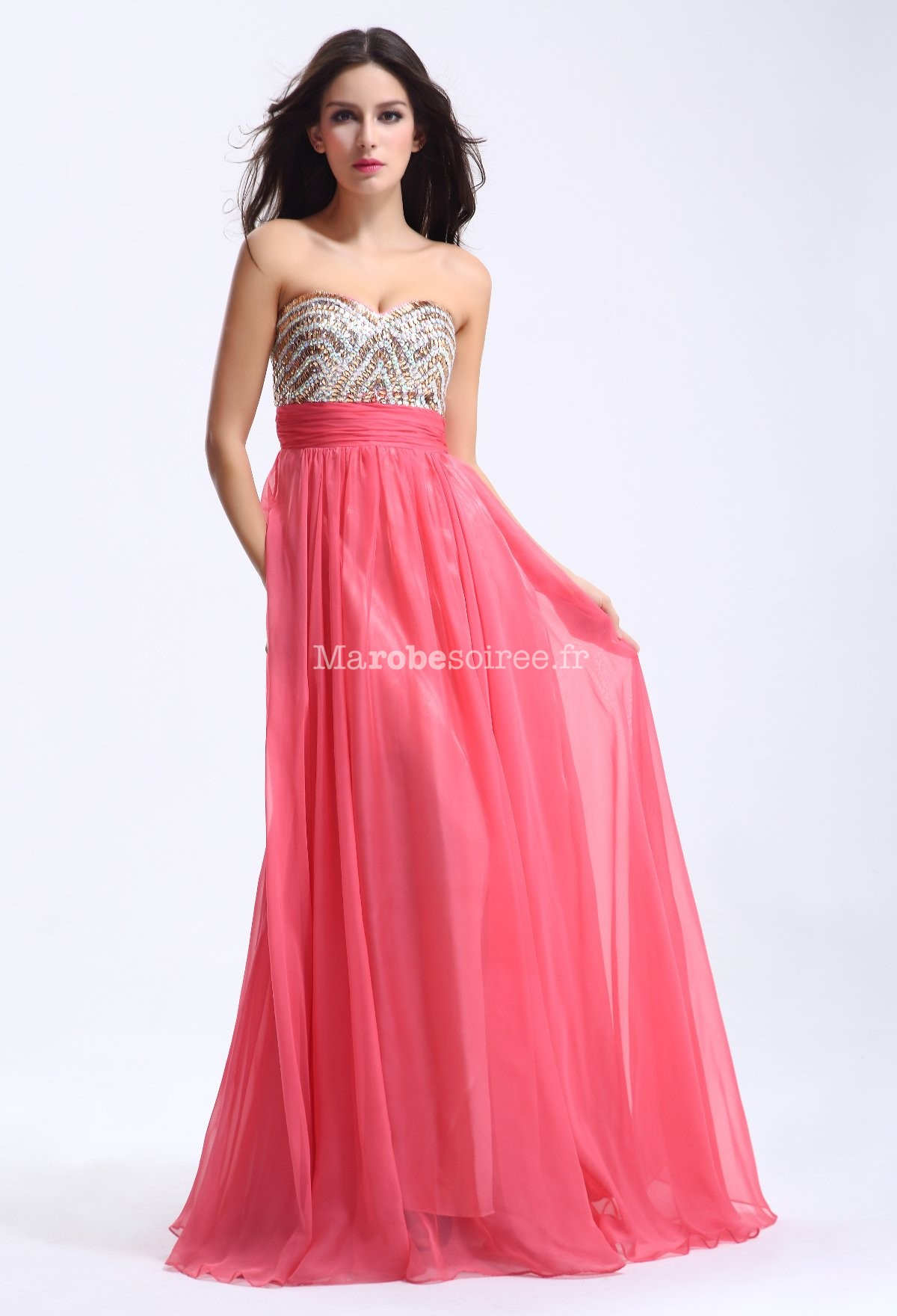 Robe mariage rose corail