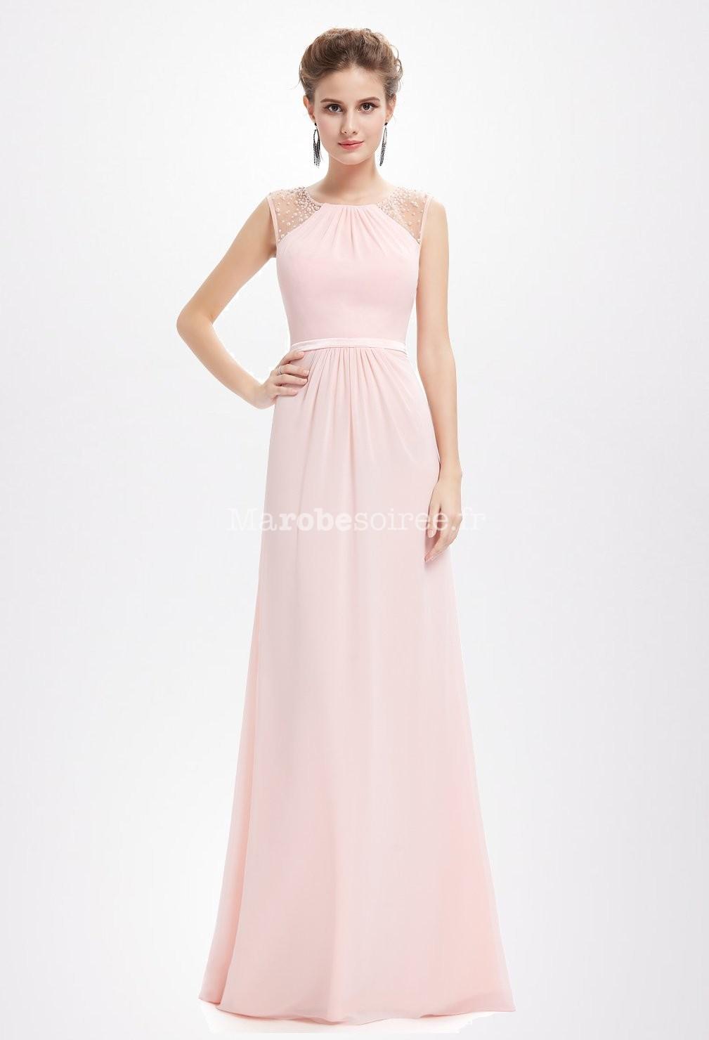 6016a72b94d Noir  Bleu pastel  Rose longue nude bretelles cérémonie - perles ...