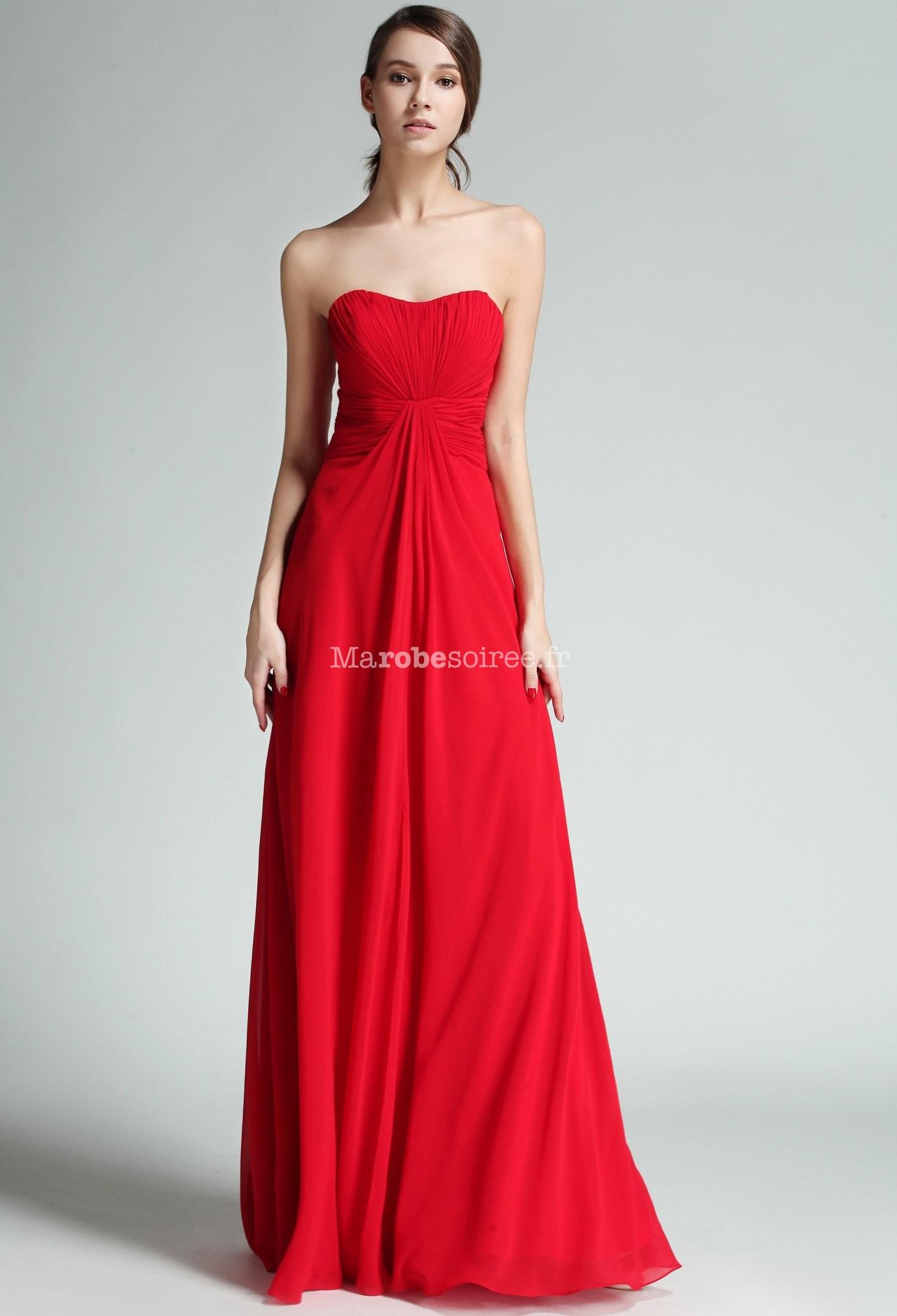 Robe longue de mariage mousseline rouge for Robe www pour mariage