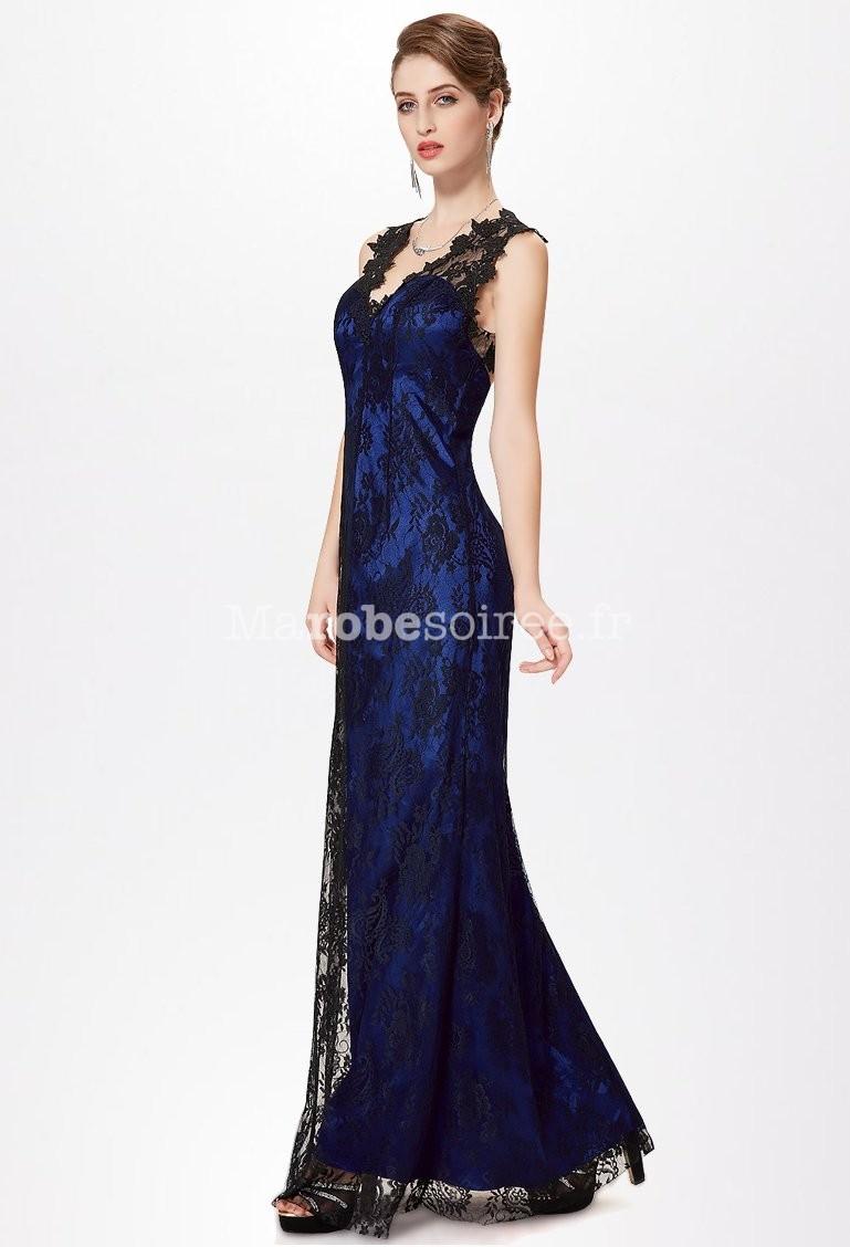 Robe bleu et noir longue