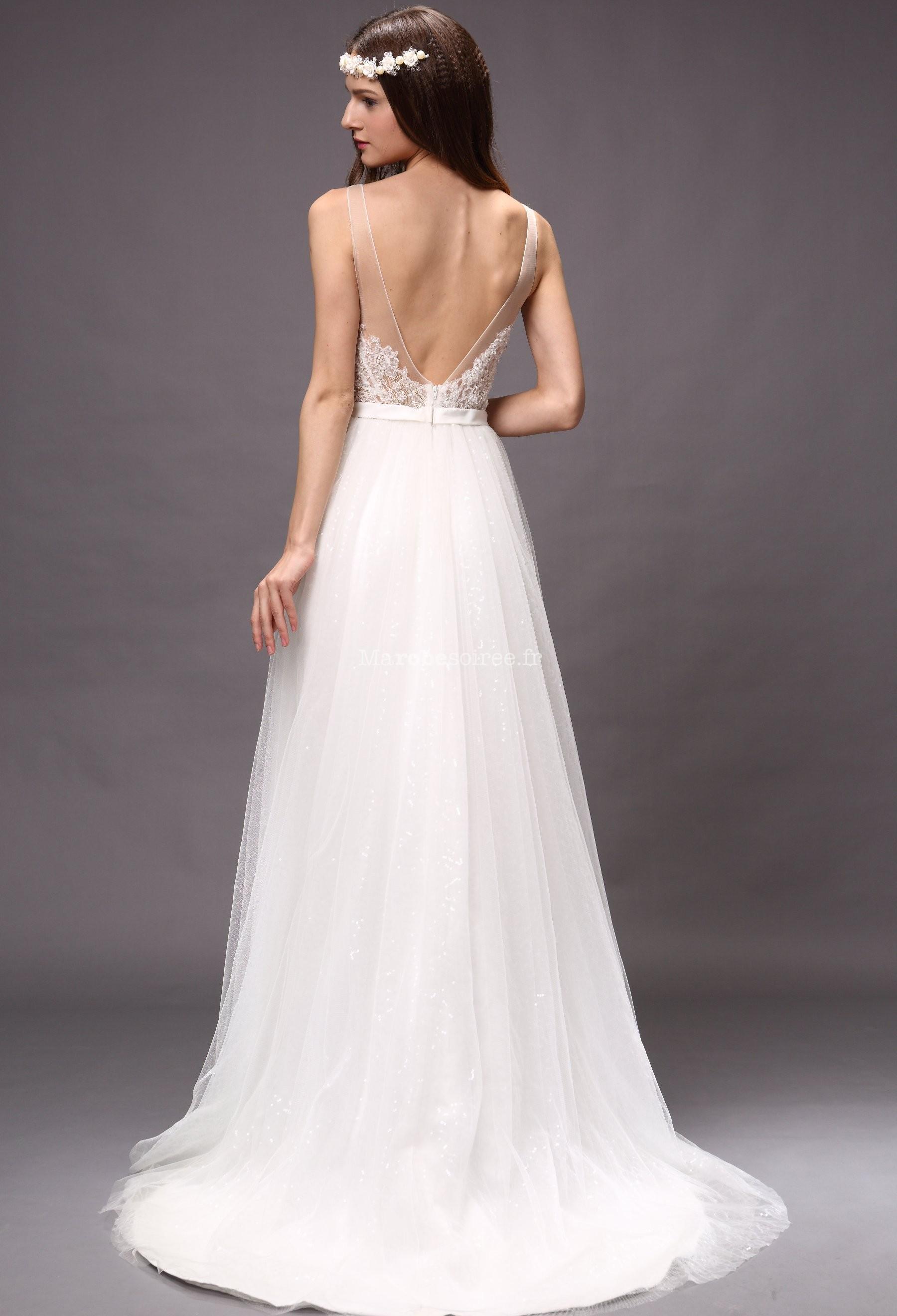 robe de mari e fluide dentelle dos nu On robe de mariée très décontractée