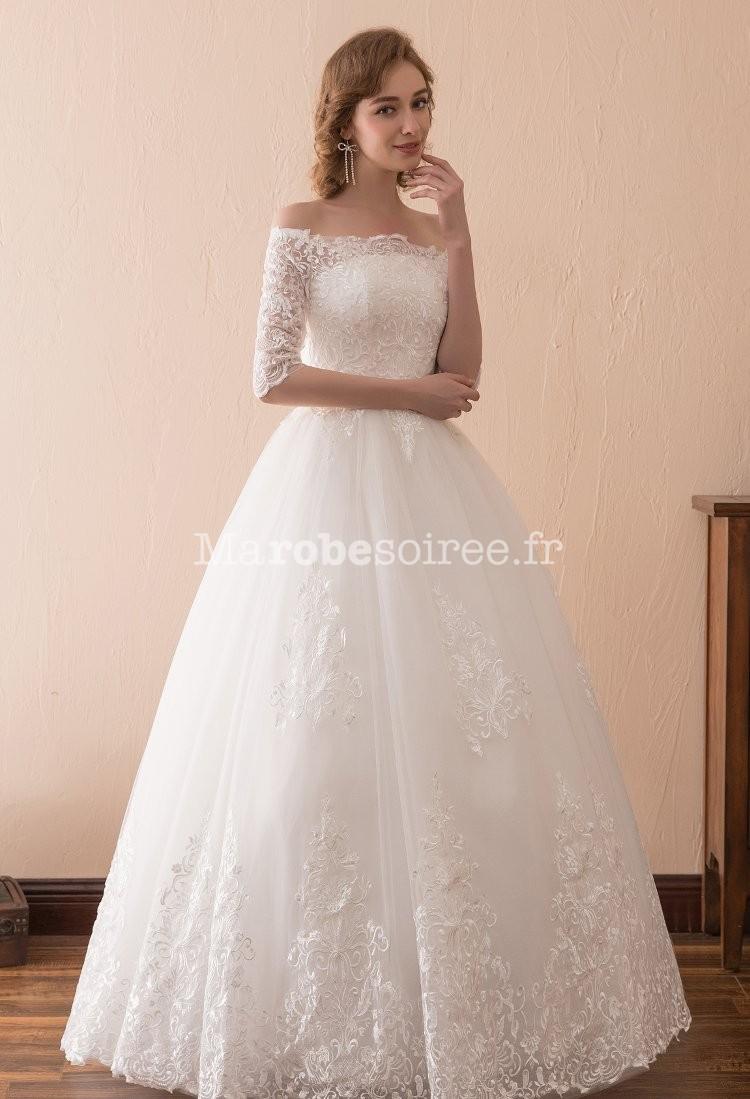 Robe de mari e princesse dentelle for Robes de mariage petite macy