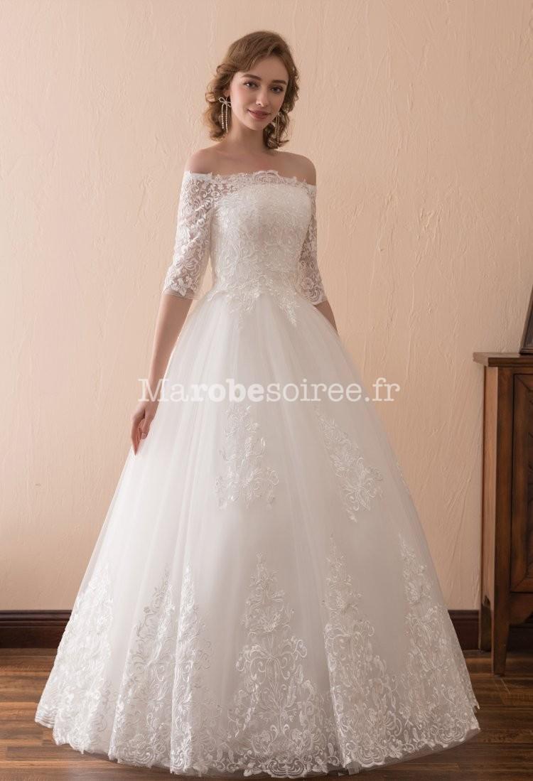 Robe de mari e princesse dentelle - Robe de mariee manche dentelle ...
