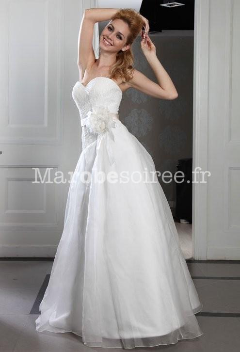 robe de mari e princesse avec fleur