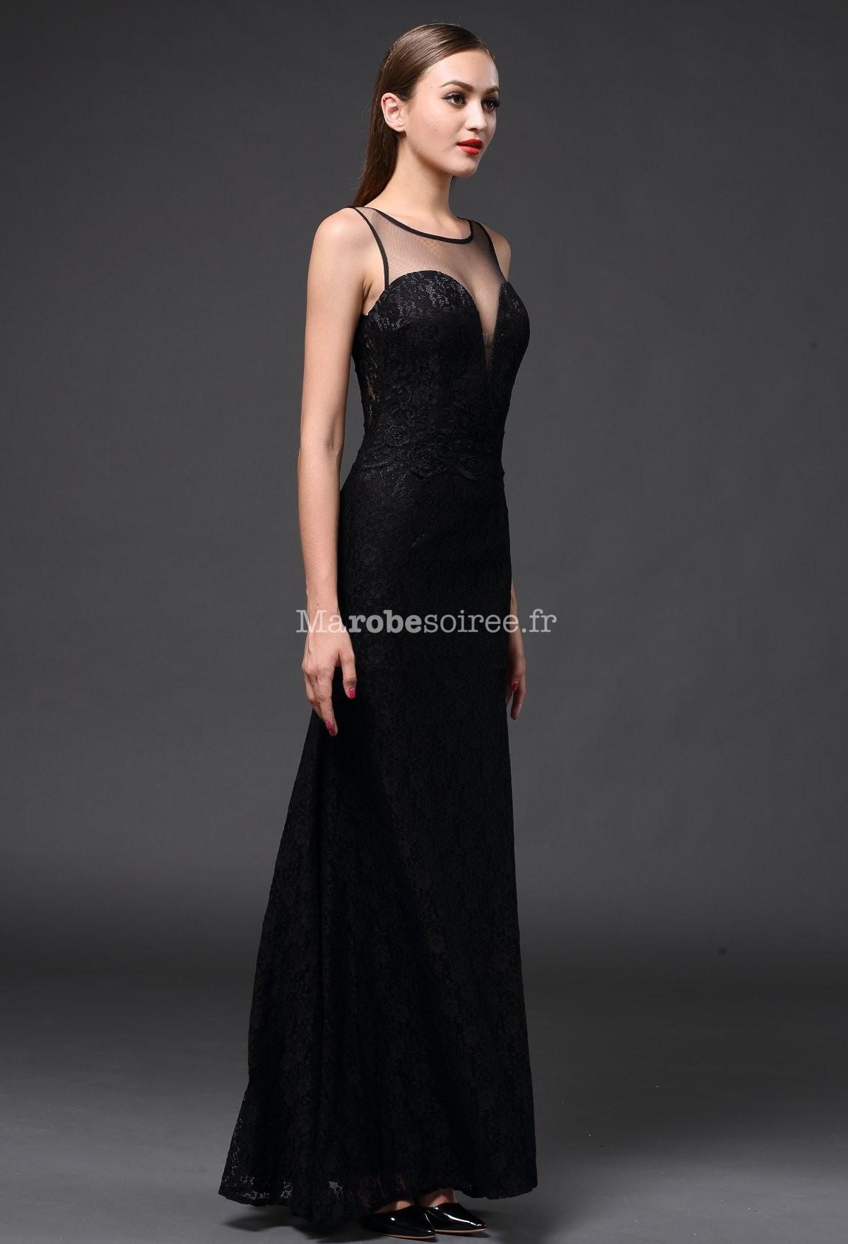 robe de soir e longue dentelle bustier transparent. Black Bedroom Furniture Sets. Home Design Ideas