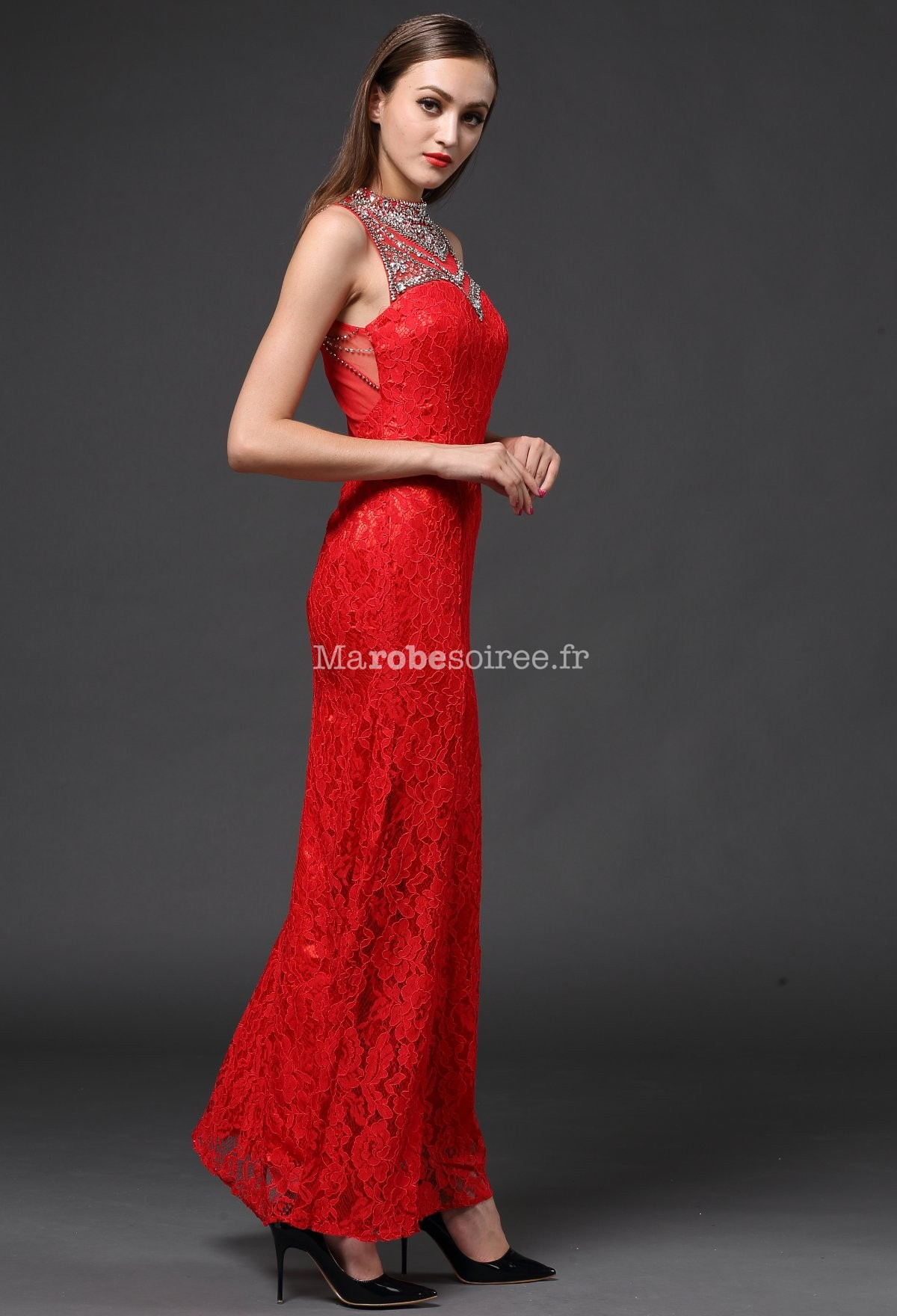 Robe de soiree rouge moulante