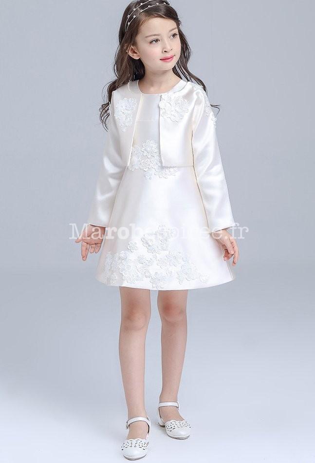 En Tenue Veste Robe Et Ensemble Satin Uszmpqv Enfant ALcjq354R