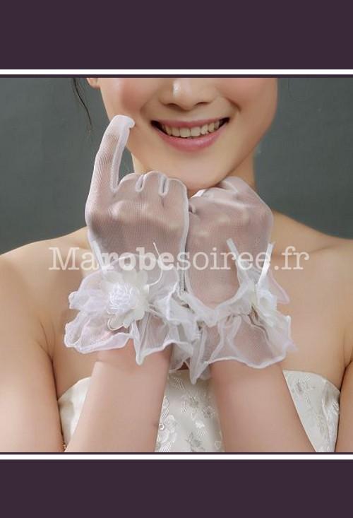 gants de mari e s53 courts l gants d cor s de fleur pour robe de mariage. Black Bedroom Furniture Sets. Home Design Ideas