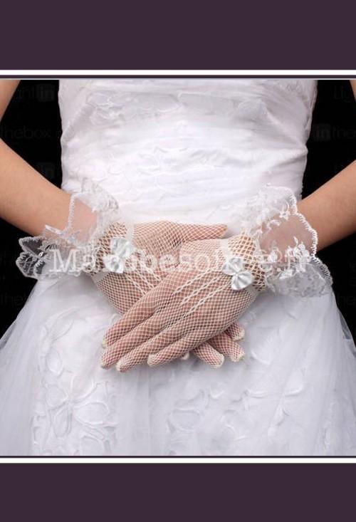 mitaine gants courts de mari e en dentelle pour mariage. Black Bedroom Furniture Sets. Home Design Ideas