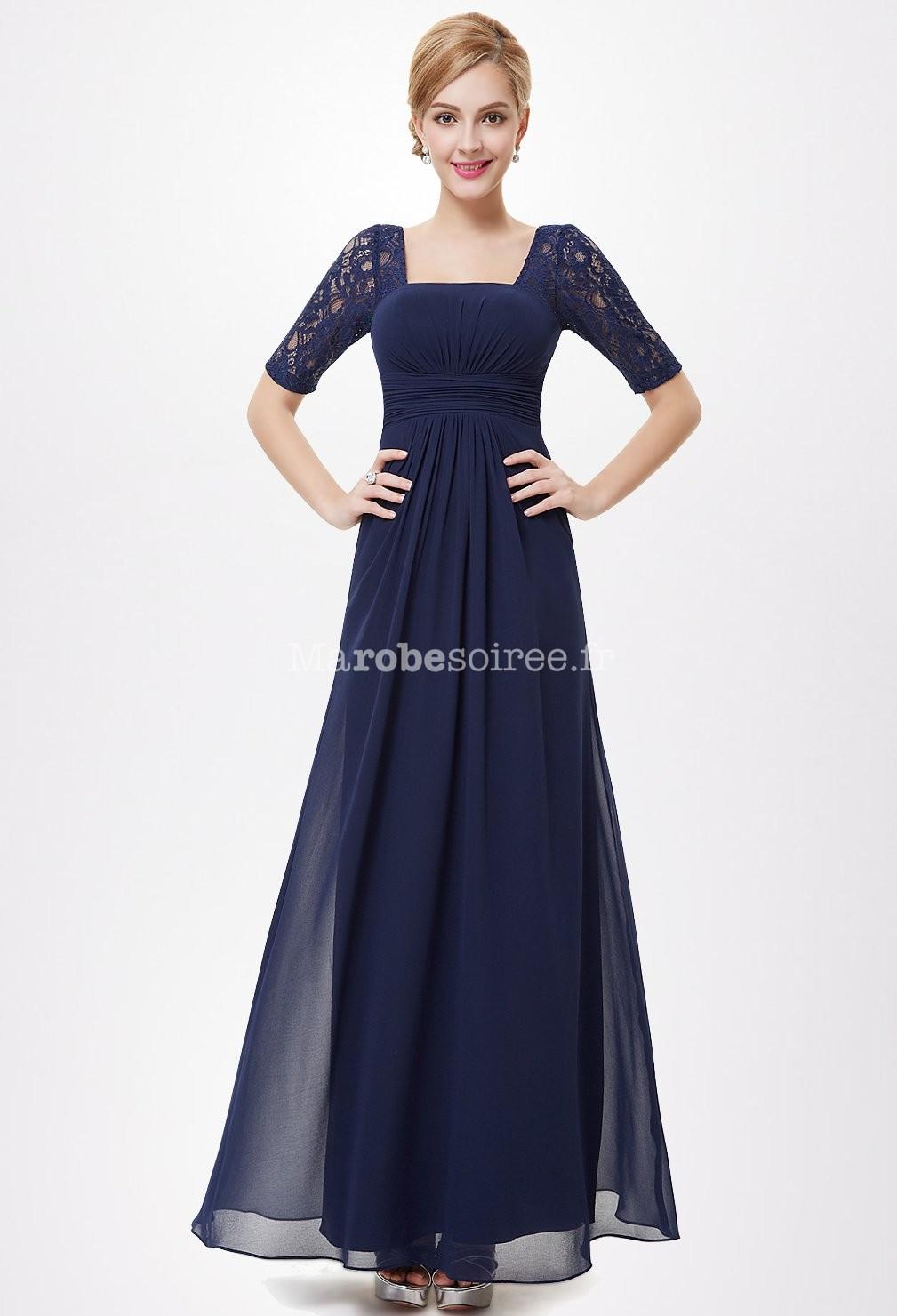 robes tonnantes blog robe longue bleu marine dentelle. Black Bedroom Furniture Sets. Home Design Ideas